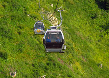 Almaty - Cable car Stock Photo