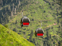 Almaty - Cable car Stock Images
