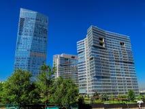 Almaty - centro di affari di Esentai Tower Fotografia Stock