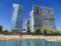 Almaty - centro di affari di Esentai Tower Fotografie Stock