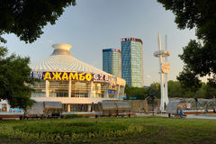 almaty cirkus en Royaltyfri Fotografi