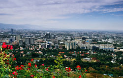 Almaty city. The photo was made ​​in the gorge Kok-Tube, view of the city of Almaty city Almaty.Tsvetuschy Royalty Free Stock Image
