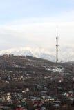 Almaty city in spring Royalty Free Stock Photo