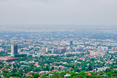 Almaty, cityscape, panorama. View from koktobe hill Royalty Free Stock Photos