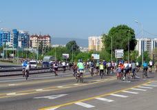Almaty - Cycling marathon Royalty Free Stock Images