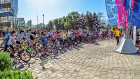 Almaty - Cycling marathon Royalty Free Stock Photos