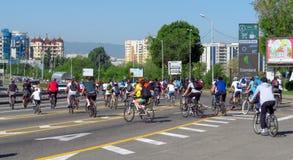 Almaty - Cycling marathon Stock Photos