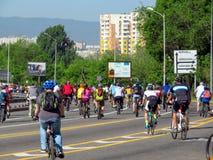 Almaty - Cycling marathon Stock Photography