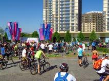 Almaty - Cycling marathon Stock Photo