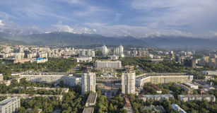Almaty-e - vista aerea al quadrato della Repubblica Immagini Stock Libere da Diritti