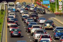 Almaty - embouteillage Photo libre de droits