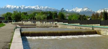 Almaty - Esentai river Royalty Free Stock Images
