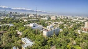 Almaty - flyg- sikt Royaltyfri Fotografi