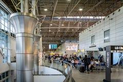 Almaty flygplatsarkitektur i Kasakhstan royaltyfri foto