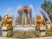 Almaty - fontanna orientała kalendarz Zdjęcie Royalty Free