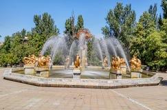 Almaty - fontanna orientała kalendarz Fotografia Royalty Free