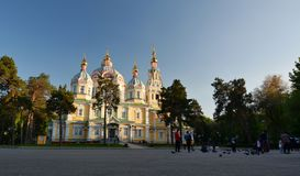 The Ascension Cathedral, Panfilov Park. Almaty. Kazakhstan royalty free stock photography