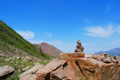 Almaty gór krajobraz na letnim dniu Zdjęcia Royalty Free