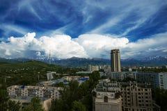 Almaty-Himmel 2014 Lizenzfreie Stockfotos
