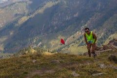ALMATY, IL KAZAKISTAN - 20 AGOSTO: Corsa per skyrunning in onore di Fotografia Stock