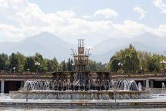 Almaty, il Kazakistan - 28 agosto 2016: Il parco del primo Pres Fotografia Stock Libera da Diritti