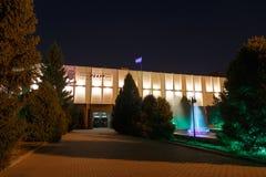 Almaty, il Kazakistan - 29 agosto 2016: Il Russo accademico dello stato Fotografie Stock
