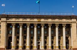 ALMATY, il KAZAKISTAN - 16 aprile 2016: Vecchia Camera di governo in Alm Fotografia Stock Libera da Diritti
