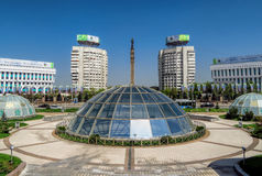 Almaty - il quadrato della Repubblica Fotografie Stock Libere da Diritti