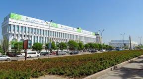 Almaty - il quadrato della Repubblica Immagine Stock Libera da Diritti