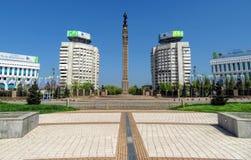 Almaty - il quadrato della Repubblica Fotografia Stock Libera da Diritti