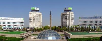 Almaty - il quadrato della Repubblica - panorama Fotografie Stock