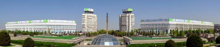 Almaty - il quadrato della Repubblica - panorama Fotografia Stock