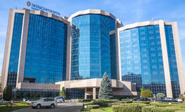 Almaty - InterContinental Hotel. ALMATY, KAZAKHSTAN - OCTOBER 21, 2015: The InterContinental Hotel is located near Republic Square and the Presidential Palace in Stock Image