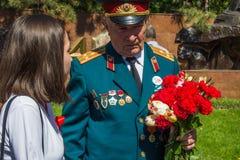 ALMATY, KASACHSTAN - 9. MAI: Victory Day-Feiersieg herein Lizenzfreies Stockbild