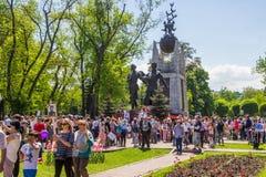 ALMATY, KASACHSTAN - 9. MAI: Victory Day-Feiersieg herein Stockfoto