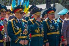 ALMATY, KASACHSTAN - 9. MAI: Victory Day-Feiersieg herein Lizenzfreie Stockbilder
