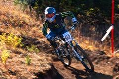 Extremer Mountainbikewettbewerb des Herbstes Lizenzfreies Stockbild