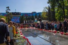 ALMATY KAZACHSTAN, MAJ, - 9: Zwycięstwo dnia świętowania zwycięstwo wewnątrz Obraz Royalty Free