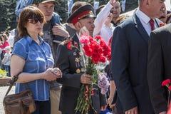 ALMATY KAZACHSTAN, MAJ, - 9: Zwycięstwo dnia świętowania zwycięstwo wewnątrz Fotografia Stock