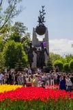 ALMATY KAZACHSTAN, MAJ, - 9: Zwycięstwo dnia świętowania zwycięstwo wewnątrz Obrazy Royalty Free
