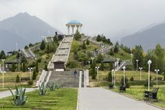 ALMATY, KAZACHSTAN, SEPTEMBER 23, 2017 : View to the monument wi Royalty Free Stock Photography