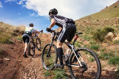 Adventure mountain buke competition Stock Image