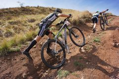 Adventure mountain buke competition Stock Photo