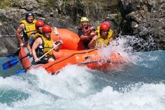 Rafting competition Royalty Free Stock Photos
