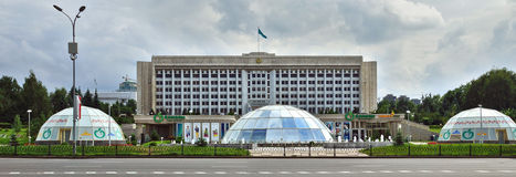 Almaty, Kazakhstan - The building of city administration at the Stock Photography
