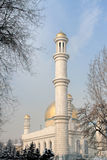 Almaty, Kazakhstan. Central Almaty Mosque in Kazakhstan, on winter day Royalty Free Stock Photography