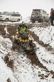 Almaty, Kazakhstan - February 21, 2013. Off-road racing on jeeps, Car competition,  ATV. Traditional race Stock Images