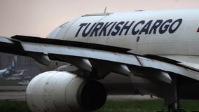 Turkish Cargo Airbus A330 taxiing stock video