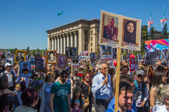 ALMATY, KAZAKHSTAN - MAY 9: Immortal Regiment march during the V Stock Image