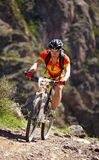 Mauntain bike adventure competition Stock Photography